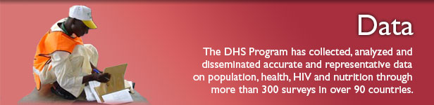 The DHS Program has collected, analyzed, and disseminated accurate and representative data on population, health, HIV, and nutrition through more than 300 surveys in over 90 countries.
