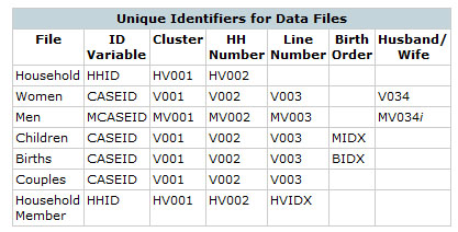 Unique Case Identifiers for Data Files