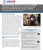 Cover of Household Wealth Relative to Community Wealth: Associations with Specific Asset Ownership and Maternal and Child Health Indicators (AS76) Analysis Brief (English)