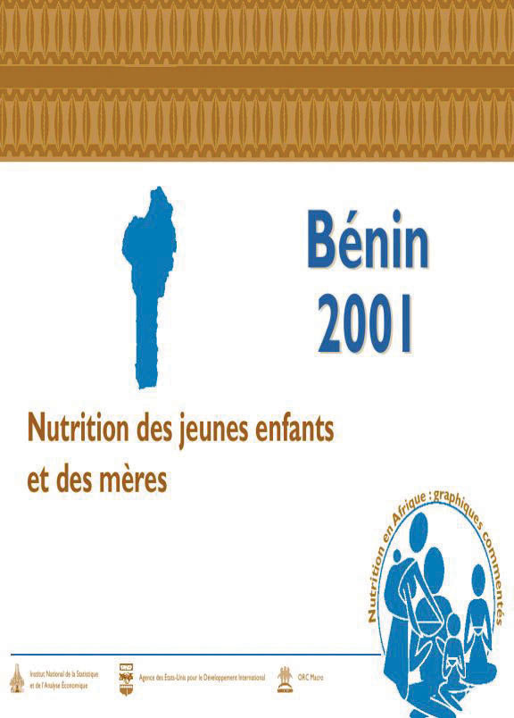 Cover of Benin 2001,  Nutrition of Young Children and Mothers (French)
