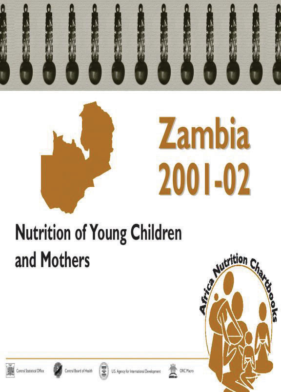 Cover of Zambia 2001-02, Nutrition of Young Children and Mothers (English)