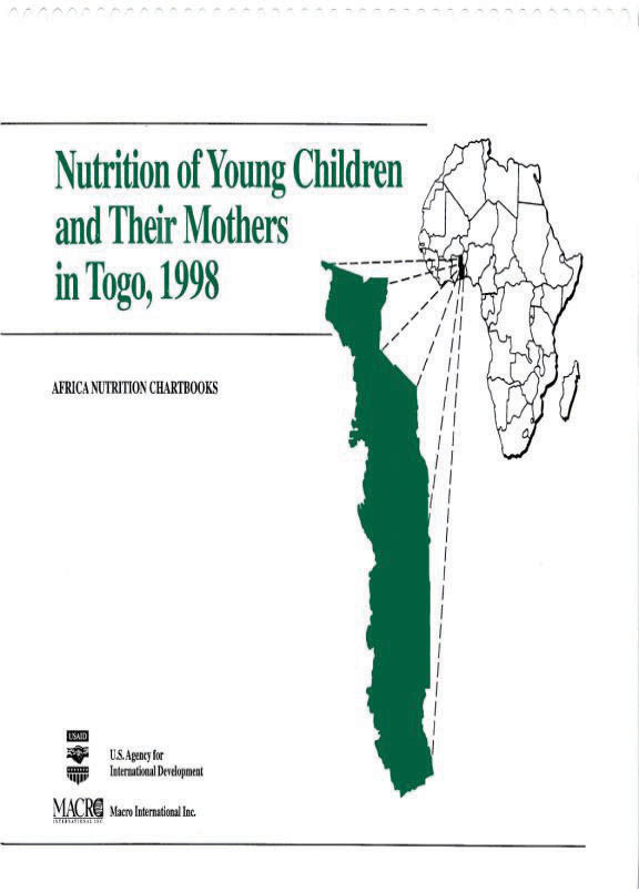 Cover of Togo 1998, Nutrition of Young Children and Their Mothers (English, French)