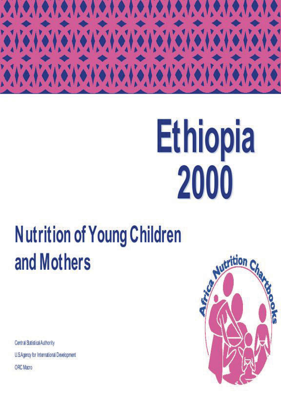 Cover of Ethiopia 2000, Nutrition of Young Children and Mothers (English)