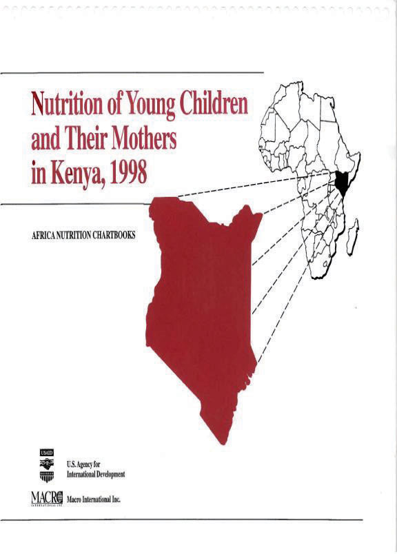Cover of Kenya 1998, Nutrition of Young Children and Their Mothers (English)