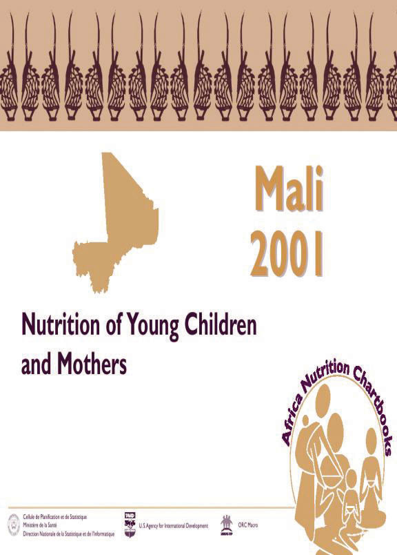 Cover of Mali 2001, Nutrition of Young Children and Mothers (English, French)