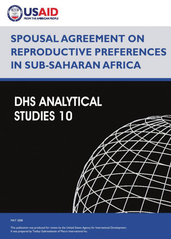 Cover of Spousal Agreement on Reproductive Preferences on Sub-Saharan Africa (English)