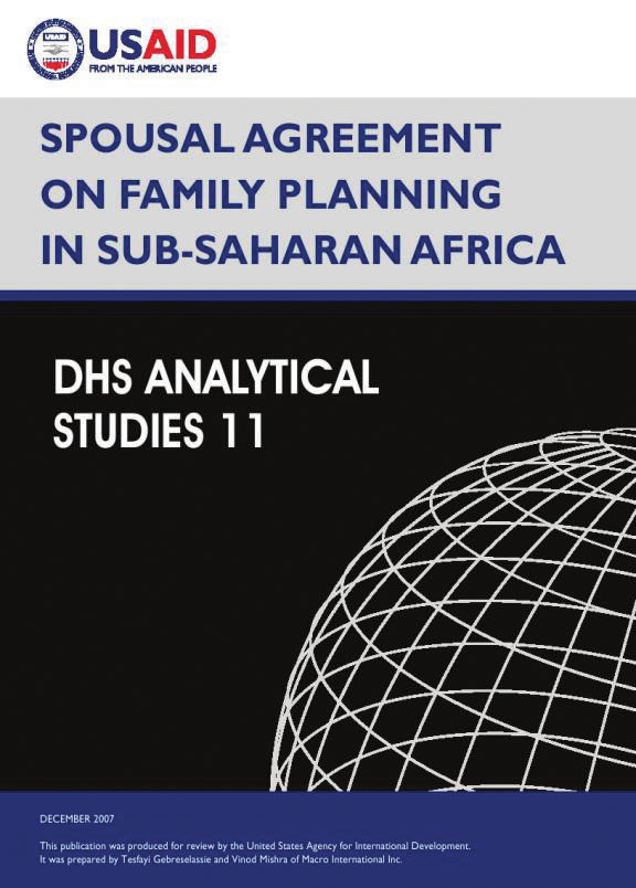 Cover of Spousal Agreement on Family Planning in Sub-Saharan Africa (English)