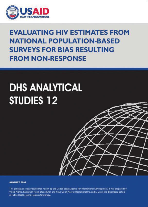Cover of Evaluating HIV Estimates from National Population-Based Surveys for Bias Resulting from Non-Response (English)
