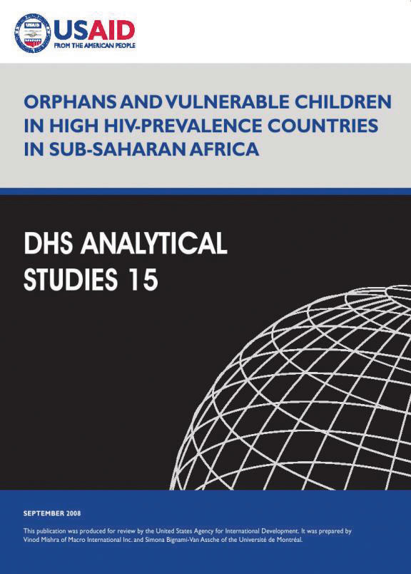 Cover of Orphans and Vulnerable Children in High HIV-Prevalence Countries in Sub-Saharan Africa (English)