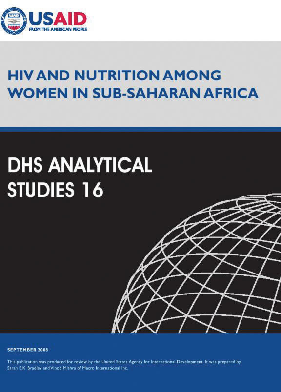 Cover of HIV and Nutrition among Women in Sub-Saharan Africa (English)