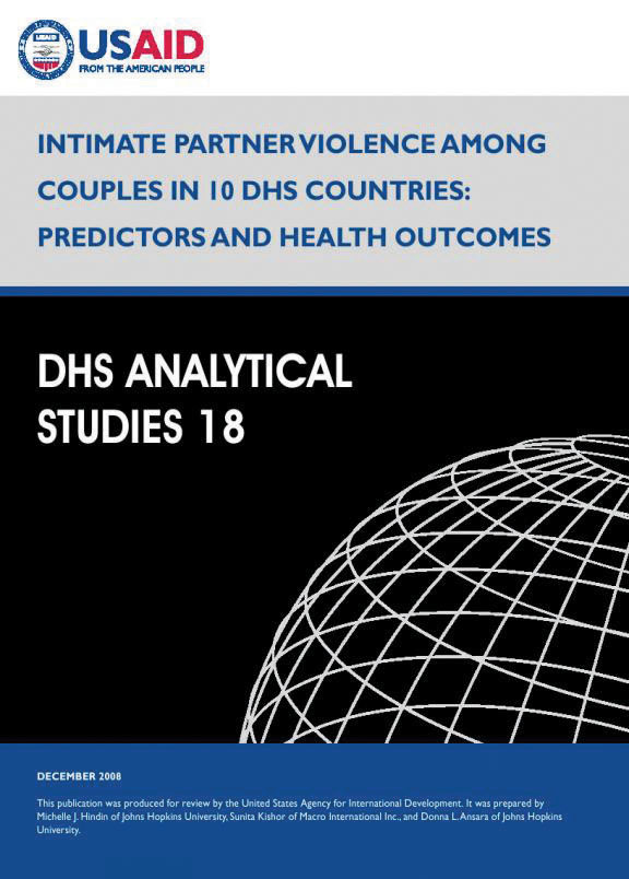 Cover of Intimate Partner Violence among Couples in 10 DHS Countries: Predictors and Health Outcomes (English)