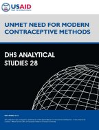 Cover of Unmet Need for Modern Contraceptive Methods (English)