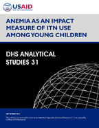 Cover of Anemia as an Impact Measure of ITN Use among Young Children (English)