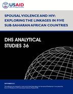 Cover of Spousal Violence and HIV: Exploring the Linkages in Five Sub-Saharan African Countries (English)