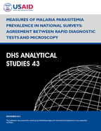 Cover of Measures of Malaria Parasitemia Prevalence in National Surveys: Agreement between Rapid Diagnostic Tests and Microscopy (English)
