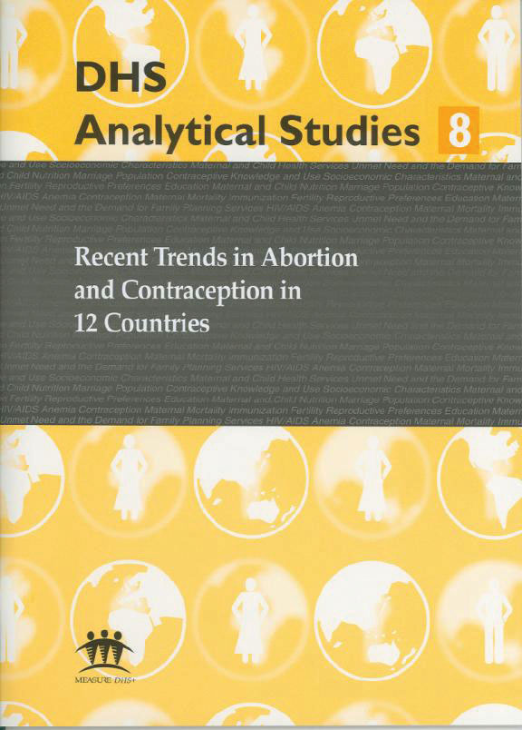 Cover of Recent Trends in Abortion and Contraception in 12 Countries (English)