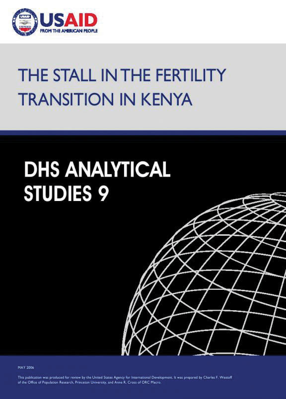 Cover of The Stall in the Fertility Transition in Kenya (English)