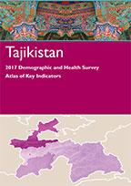 Cover of Tajikistan 2017 DHS: Atlas of Key Indicators (English, Russian)