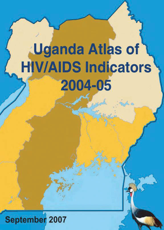 Cover of Uganda Atlas of HIV/AIDS Indicators 2004-05 (English)