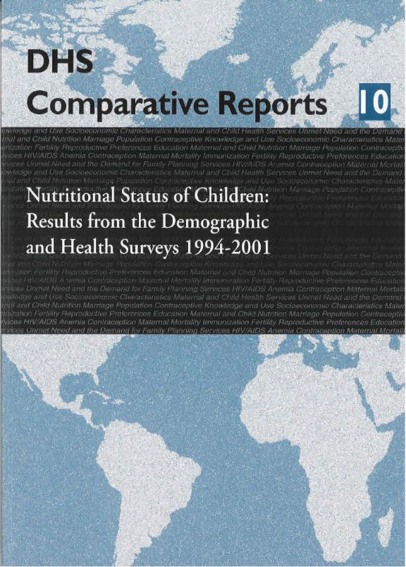 Cover of Nutritional Status of Children: Results from the Demographic and Health Surveys 1994 - 2001 (English)
