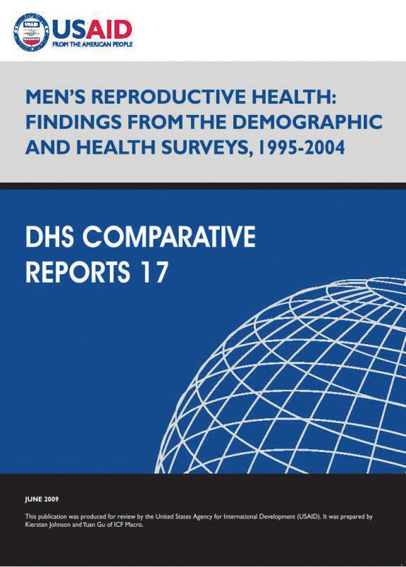 Cover of Men's Reproductive Health: Findings from the Demographic and Health Surveys, 1995-2004 (English)