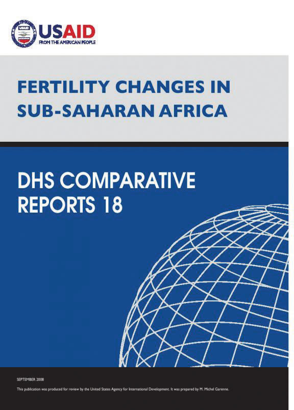 Cover of Fertility Changes in Sub-Saharan Africa (English)