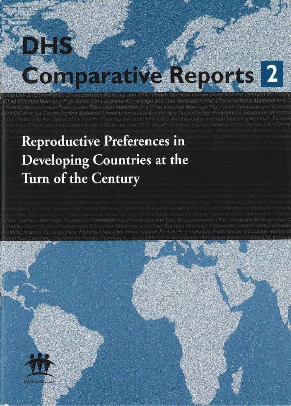 Cover of Reproductive Preferences in Developing Countries at the Turn of the Century (English)