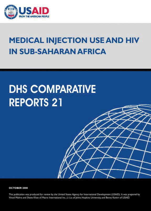 Cover of Medical Injection Use and HIV in Sub-Saharan Africa (English)