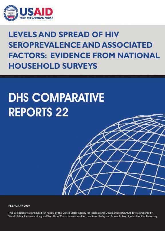 Cover of Levels and Spread of HIV Seroprevalence and Associated Factors: Evidence from National Household Surveys (English)