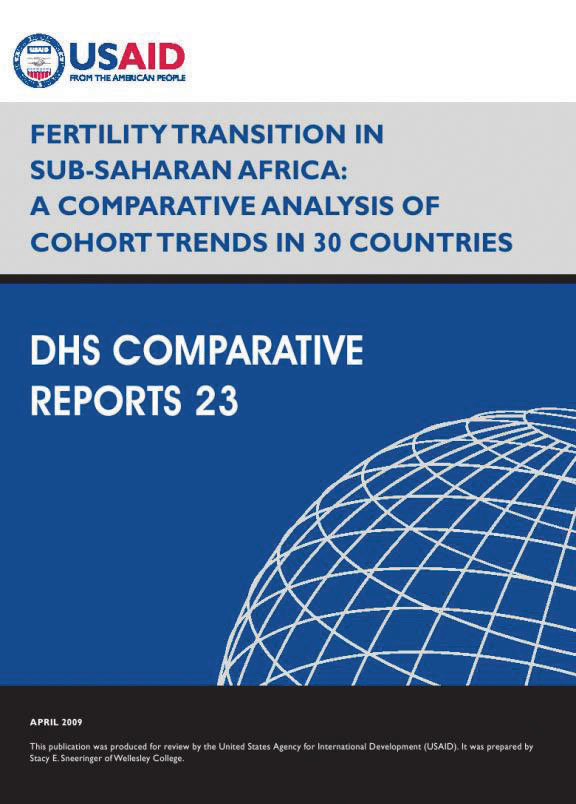 Cover of Fertility Transition in Sub-Saharan Africa: A Comparative Analysis of Cohort Trends in 30 Countries (English)