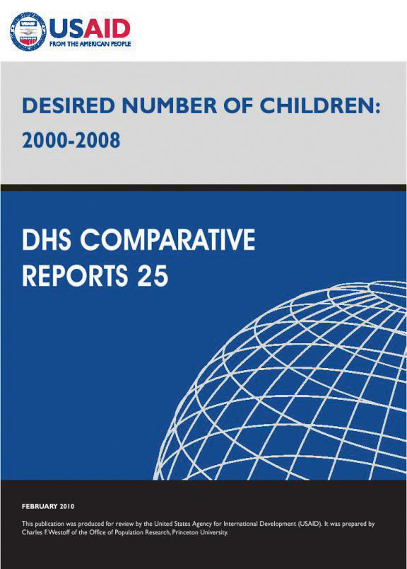 Cover of Desired Number of Children: 2000-2008 (English)