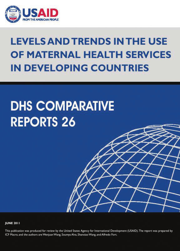 Cover of Levels and Trends in the Use of Maternal Health Services in Developing Countries (English)