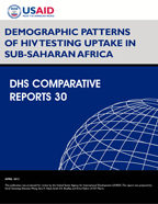 Cover of Demographic Patterns of HIV Testing Uptake in Sub-Saharan Africa (English)