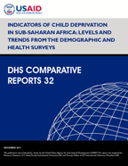 Cover of Indicators of Child Deprivation in Sub-Saharan Africa: Levels and Trends from the Demographic and Health Surveys (English)