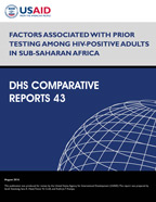 Cover of Factors Associated with Prior Testing among HIV-Positive Adults in Sub-Saharan Africa (English)