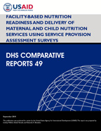 Cover of Facility-based Nutrition Readiness and Delivery of Maternal and Child Nutrition Services using Service Provision Assessment Surveys (English)