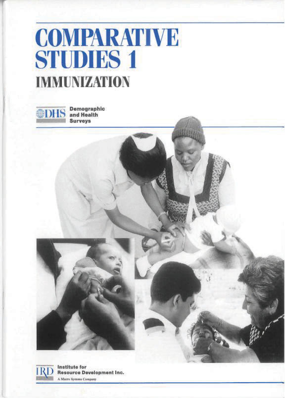 Cover of Immunization: Levels, Trends and Differentials (English)