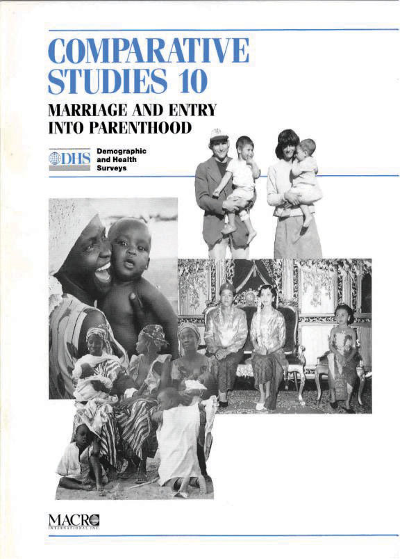 Cover of Marriage and Entry into Parenthood (English)