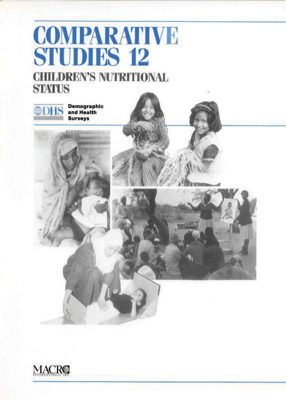 Cover of Children's Nutritional Status (English)