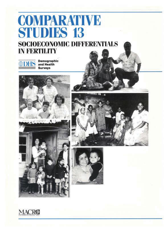 Cover of Socioeconomic Differentials in Fertility (English)