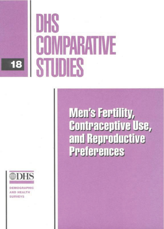 Cover of Men's Fertility, Contraceptive Use, and Reproductive Preferences (English)