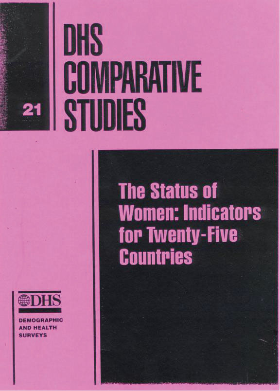 Cover of Status of Women: Indicators for Twenty-five Countries (English)