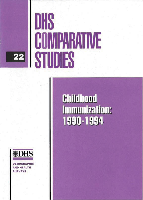 Cover of Childhood Immunization: 1990-1994 (English)