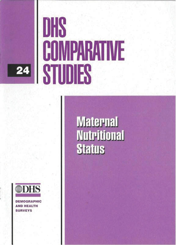 Cover of Maternal Nutritional Status (English)