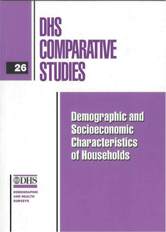 Cover of Demographic and Socioeconomic Characteristics of Households (English)