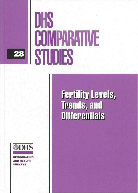 Cover of Fertility Levels, Trends and Differentials (English)