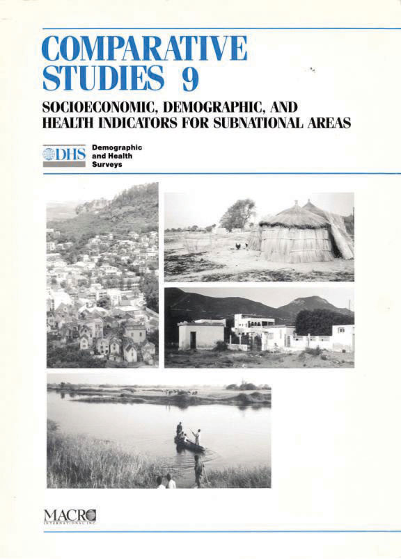 Cover of Socioeconomic, Demographic, and Health Indicators for Subnational Areas (English)