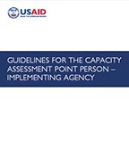 Cover of Guidelines for the Capacity Assessment Point Person - Implementing Agency (English)