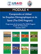 Cover of Programme de formation DHS Guide de l'instructeur – Module 4 (French)