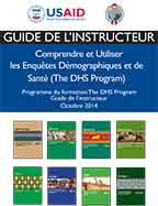 Cover of Programme de formation DHS Guide de l'instructeur (French)